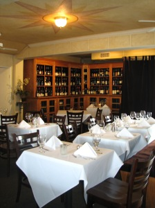 Enotria's Intimate Dining Room